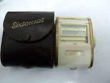 VINTAGE SIXTOMAT PHOTOGRAPHY LIGHT METER WITH LEATHER CASE