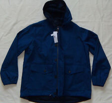 New Men's Lacoste Blue Hooded Water Repellent Jacket Parka Size M 52 MSRP $325