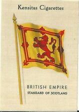 Kensitas Cigarettes silk soie Flag drapeau British Empire Scotland Ecosse