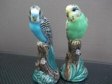 Budgerigar Salt and Pepper Pots Budgie Salt and Pepper Pots Blue & Green Budgie