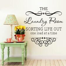Fashion THE LAUNDRY English wall sticker for kids bedroom living room Decals CA