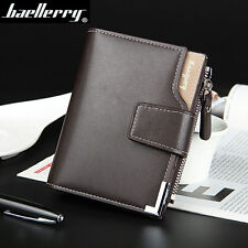 Cartera billetera hombre Men Retro Casual Clutch Bifold Wallet Hasp Zipper bag