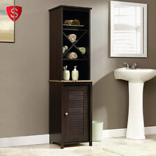Bathroom Linen Storage Cabinet Closet Shelf Organizer Kitchen Pantry Cupboard