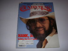 COUNTRY MUSIC Magazine, 10th Anniversary, 1981, HANK WILLIAMS, JR, WILLIE NELSON