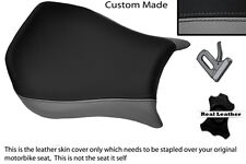 GREY & BLACK CUSTOM FITS DUCATI MONOPOSTO 748 916 996 998 LEATHER SEAT COVER