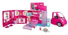 MATTEL BARBIE SISTERS DOLL LIFE IN THE DREAM HOUSE GLAM CAMPER W/POOL PINK RV