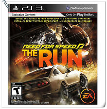 PS3 Need for Speed: The Run SONY PlayStation Electronic ART Racing Games EA