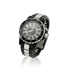 Fashion New LED Light Black Band Analog Quartz Mens Sport Waterproof Wrist Watch