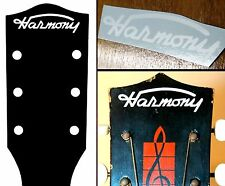 Vintage Harmony Headstock Waterslide Decal White 1950's Acoustic Archtop Guitar