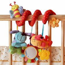 Baby Stroller Crib Toy Blossom Farm Spiral Wrap Around Beeper Teether Rattle