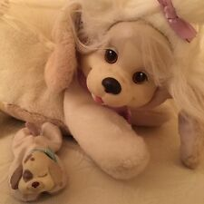 Puppy Surprise Cream Tan Mom Dog & Puppy 1991 Plush Stuffed Animal Toy Hasbro