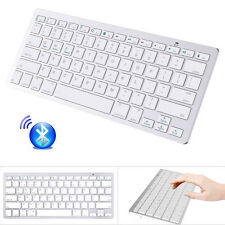 Universal Bluetooth Keyboard for iPhone Samsung HTC LG Tablet PC Laptop White US