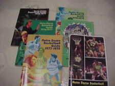 Six Old Notra Dame Basket Ball Programs /Guides