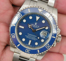 Rolex SUBMARINER 116619 Mens White Gold Blue Ceramic Bezel & Blue Dial 40MM