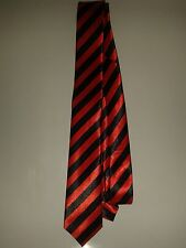 SCHOOL BOY RED AND BLACK STRIPE NECK TIE- ADULT SIZE.