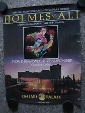 1980 Ali vs. Holmes Program, Posters, Ticket, Button, Newspapers, etc.
