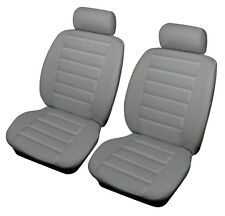 MG TF 02-05 GREY Front Leather Look SPORT Car Seat Covers Airbag Ready