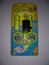 WAVE SPORTS VORTEX SET YOUTH KIDS MASK SNORKEL & GOGGLES SET POOL OCEAN LAKE NEW