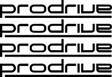 RACING STICKERS PRODRIVE x 4 Car Window Bumper JDM Subaru Vinyl Sponsor Decals