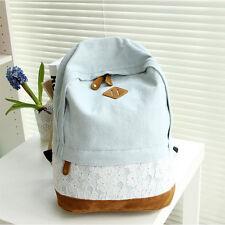 Ladies Girls Floral Backpack Rucksack Travel School Shoulder Bags Korean Satchel