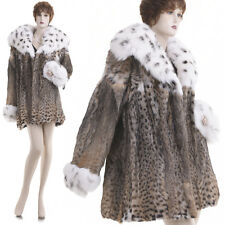NEW! Large! Beautiful Lux Glam Sensual Lynx Fur w/Fox Trim Stroller/Jacket/Coat