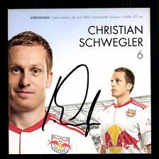 Christian Schwegler Autogrammkarte Red Bull Salzburg 2010-11 Original + G 13542