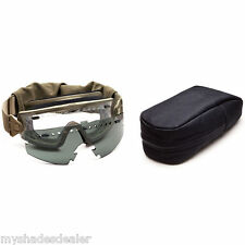New Smith Optics Tactical Elite The Wire Goggles Tan Frames/ Smoke & Clear Lens