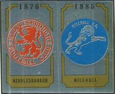PANINI FOOTBALL 88-#425-A-B-MIDDLESBROUGH / MILLWALL TEAM BADGES-FOILS