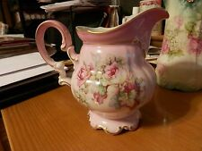 """Imperial Germany Porcelain China Pitcher 7"""" Tall Very Colorful"""