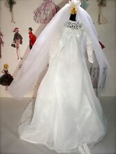 ELVIS AND PRISCILLA WEDDING DAY BARBIE WEDDING GOWN OUTFIT ONLY