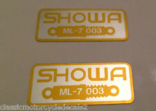 HONDA RC24 VFR750F FRONT FORK SHOWA CAUTION WARNING LABEL DECALS X 2