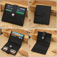 Bifold Wallet Men's Genuine Leather Credit/ID Card Holder Slim Purse Black