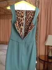 Dolce & Gabbana Dress 42 6 Signature Sheath Leopard Silk Lined Corset  Zip