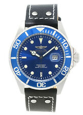 Invicta Men's 22068 Pro Diver Analog Display Japanese Quartz Leather Strap Watch