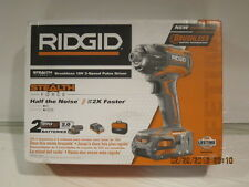 "RIDGID R86036K STEALTH FORCE Brushless 18V Hyper LITH-ION 1/4"" IMPACT KIT-NISB!!"