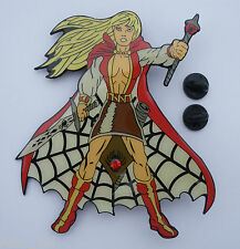 "Fun Sexy WARRIOR SORCERESS Big 3.5"" Enamel METAL PIN BADGE Pins WIZARD SORCERER"