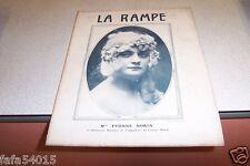 REVUE LA RAMPE N° 249 Mlle YVONNE NORIA 27 08 1921