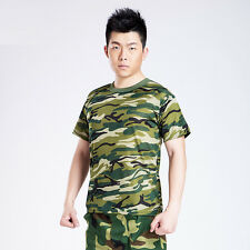 Mens Military Camouflage Camo Army T Shirt Tees Tee Combat Shirts New