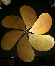 """16"""" Emerson Antique Vintage Six Brass Wing Oscillating Electric Fan Blade"""