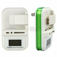 New Universal LCD Cell Phone Battery Wall Travel Charger USB Port Green