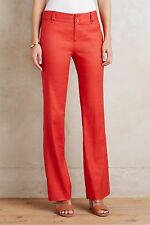 NWT Anthropologie Benton Trousers by Elevenses Orange Size 4