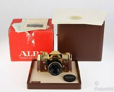 RARE ALPA GOLD 11SI 18 CARAT GOLD/ 10 MICRON WITH SERIAL NUMBER 646 + 1:1.9/50MM