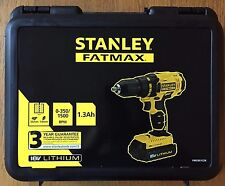 Stanley Fatmax 18V Li-Ion Cordless Hammer Drill with 2 Batteries New, Sealed