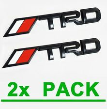 2x TRD Matte Black Emblems Toyota Tacoma Tundra Pickup Truck Decal Logo Badge
