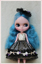 """12"""" Neo Blythe doll outfits from factory Evening dress suit skirt + head flower"""