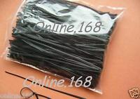 "Plastic Coated Wire Ties Twist Ties 1000pcs_5"" Blk/Whit_ FREE P&P"