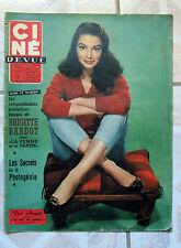 CINEMONDE 1958 CINEMA ACTEUR ACTRICE BARDOT CARY GRANT PIER ANGELI S. LAUREN