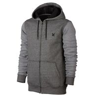 Hurley Hoodie Full Zip Sweatshirt Men's Size Small Fleece Hoodie Dark Gray NEW