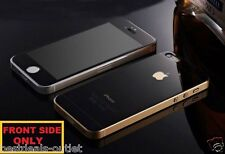 Apple iPhone 4S - Black Tempered Glass - Mirror Shiny Effect - Front Side Only