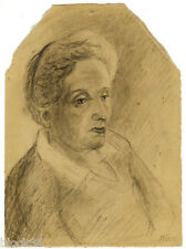 1934 WOMAN'S PORTRAIT drawing by unknown Russian artist